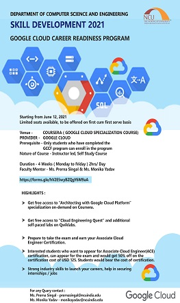 Skill Development 2021 Google Cloud Career Readiness Program