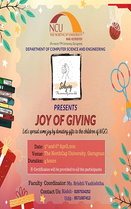 Joy of Giving under the Sehyog club for community service