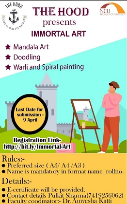 Immortal arts, an art competition was organized by The HOOD Club